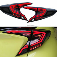 Fit Toyota CHR Tail Lights 2018 2019 2020 LED Smoke CH-R Rear Lamp Assembly