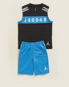 Air Jordan 2-Piece Blue Muscle Tee & Shorts Set SIze 6