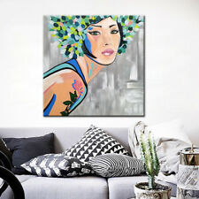 Large Modern Oil Paintings Home Decor Wall Picture Wall Art Fashion Pretty Girl