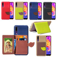 For Huawei P20 Pro /P Smart Fashion PU Leather Flip Stand Card Slots Case Cover