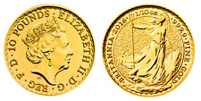 1/10 Unze Gold Britannia 2017 Feingold 9999 Geschenk Royal Mint Großbritannien