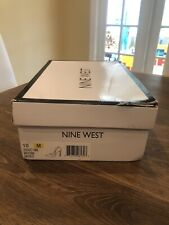 NWB Nine West Tatiana Heel Black And Silver Sequin Size 10
