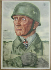 German Fallschirmjager postcard Willrich 1940 Helmet Luftwaffe Cartolina Tedesca