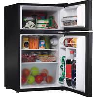 Compact 3.1 cu ft Refrigerator Freezer Double Door Fridge Home Office Dorm