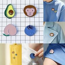Women Lady Girls Avocado Monkey Peach Blueberry Brooch Pins Wholesale Gift