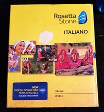 ROSETTA STONE - ITALIAN ITALIANO Level 1 Version 4 SEALED BOX Headset Microphone