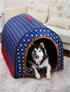 Pet Cat Dog Bed Soft Bed Met House Waterproof Covered For Large dogs(M—XL)