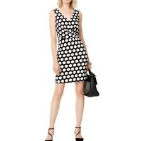 INC NEW Women's Front Crisscross-detail Dot-print Sheath Dress TEDO