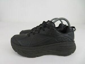 Hoka One One Bondi LTR Leather Running Athletic Shoes Black Womens Size 8.5 M