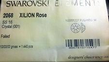Genuine Swarovski Elements Flat Backs No Hotfix 2058 Ss16 - Crystal F (001) Di