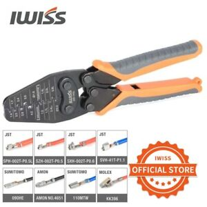 IWISS IWS-1442L Micro Connector Crimper Pliers for Crimping AWG30-14 Open-barrel