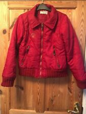 INTERNACIONALE Ladies Red Winter Sports Padded Short Coat Size 10