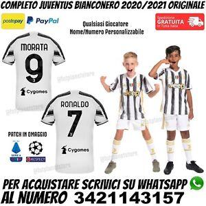Maglia Completo Juventus 2020 2021 Ronaldo Morata Juve Bambino Nuova Originale