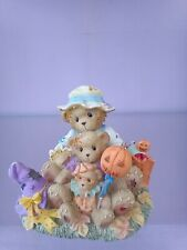 CHERISHED TEDDIES 2005 THEO SAM TY HALLOWEEN FIGURINE, PUMPKIN,