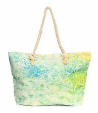 XXL Damentasche Strandtasche Sommer Tasche Badetasche Grüntöne Farbklekse Neu