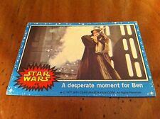 1977 Star Wars Movie Blue Trading Card #46 A Desperate Moment For Obi Wan Kenobi
