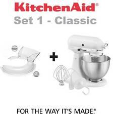 Kitchenaid Classic 5k45ss ewh + Tapa antisalpicaduras 5kn1ps