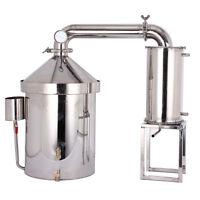 32L Destillieranlage Alembic Destille Thermometer Alkohol ätherischen Öle Wasser