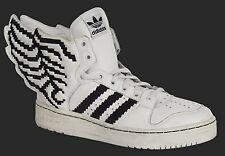 ADIDAS Originals Jeremy Scott Wings 2.0 Pixel Leather White Black Size 10.5