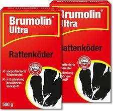 Ph Brumolin 2 x 500 Outil Ultra Raticide Auslegfertige Köderbeutel