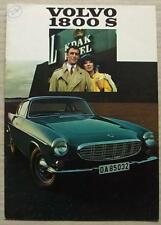 VOLVO 1800 S SPORTS COUPE Car Sales Brochure Aug 1968-69 #RK 3399 8.68 25,000
