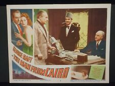 George Raft The Man From Cairo 1953 Lobby Card #8 VF Crime