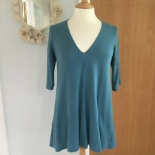 Sandwich turquoise tunic top S Small 10-12