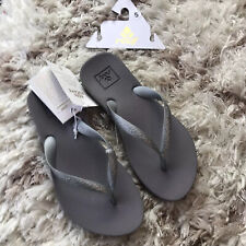 NWT Women's Reef Escape Lux+ Flip Flops/Sandals - Size 5- Silver - Arch Support