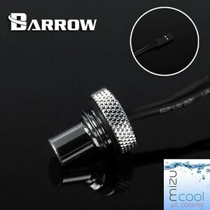 "Barrow G1/4"" Silver Temperature Sensor Stop Fitting Long - 030"