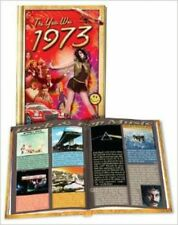 The Year Was 1973 - Hardcover Trivia Mini-Book by Flickback 45th Birthday Gift