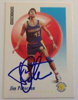 Jim Petersen Hand Signed 1991 SkyBox Card Golden State Warriors