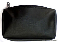 Kingstar TP-2225 Synthetic Leather Tobacco Pouch NIP Black, Zip Close