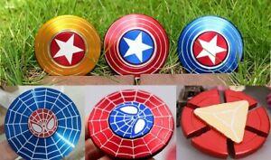 Captain American Spider-man Iron Man Fidget Spinner EDC Focus Finger Gyro ADHD