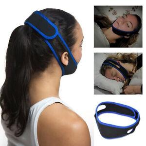 Sleep Apnea Jaw Solution Stop Snoring Strap Chin Support Anti Snore Belt
