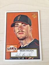 Brian Wilson Giants Signed 2006 Topps '52 Card IP COA