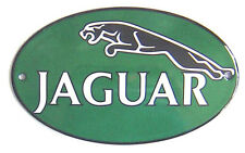 Jaguar oval vitreous enamel steel badge 160mm x 100mm (jj)
