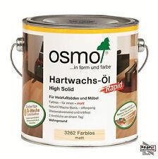 (30,78�'�/L) Osmo Hartwachsöl 3262 Farblos matt 2,5 L + Rührholz