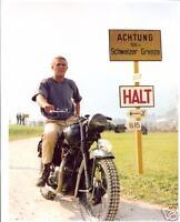 Steve McQueen - The Great Escape - 10x8 Colour Photo Picture - Motorbike Scene