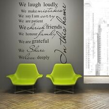 FAMILY HOUSE RULES PROMISE #4 Wall Quote Art Decal Vinyl Sticker Removable Decor