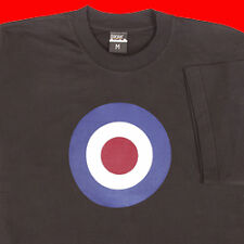 TARGET T SHIRT TEE BLACK PUNK EMO MOD BIKER ARMY SMALL