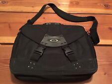 VNTG🔥 Oakley Tactical Field Gear Laptop Messenger Bag Briefcase Black Canvas