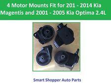 4 Motor Mounts Fit for 2001 - 2004 Kia Magentis, 2001 2002  - 2005 Kia Optima