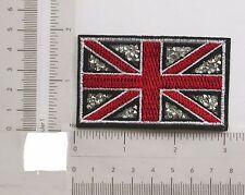 Drapeau de l'union design avec rine pierres iron on applique x 1 pièces