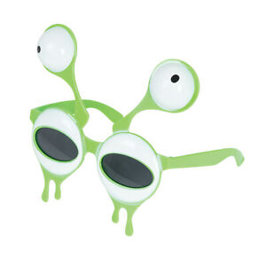 Novelty Alien Glasses - Costume Accessory Fancy Dress Up World Book Day Green