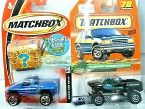 Matchbox 4X4 Pickup Diecast Car Lot: Dodge Ram SRT 10 & '99 Chevy Silverado  NIP