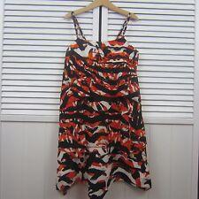 DKNY Girls Orange Black White Dress Size Medium