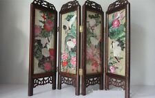 Doll Furniture Large Size Chinese Handmade Silk Embroidery Screen 1 ~ 1:4 Scale