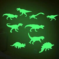 9pc Green Dinosaur Dragon Glow in the Dark Wall Stickers DIY Home Decor Baby NEW