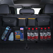 Car Trunk Back Organizer Leather Rear Storage Bag Mesh Net Hanger Universal SUV