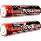 2x Kraftmax 18650 Pro Akku mit Schutzschaltung speziell für Taschenlampen 9,62Wh